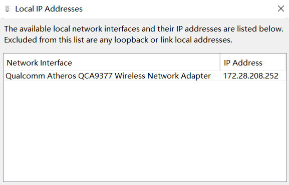 local ip address